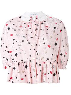 рубашка с принтом звезд  Vivetta