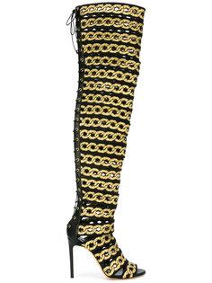 ботфорты со шнуровкой Casadei