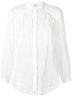 рубашка с вышивкой ришелье  Closed