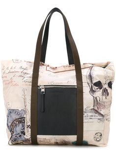 сумка-тоут с принтом India  Alexander McQueen