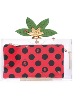 декорированный клатч Lucky Pandora  Charlotte Olympia