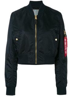 укороченная куртка-бомбер Alpha Industries