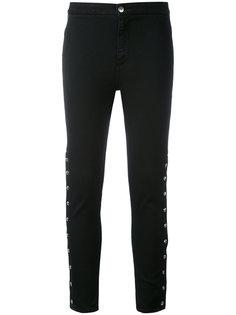 укороченные брюки с отделкой пуговицами  Iro