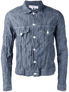джинсовая куртка с эффектом помятости Ganryu Comme Des Garcons