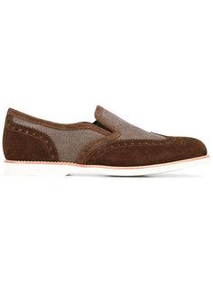 contrast loafers Santoni