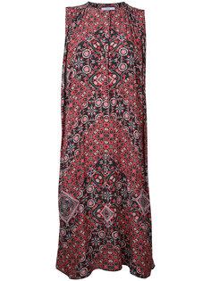 printed sleeveless shirt dress Astraet
