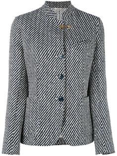 полосатый пиджак с воротником-стойкой Fay
