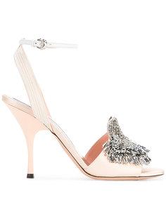 туфли с украшением из кристаллов Rochas