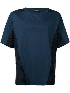 футболка с полосатыми вставками Consistence