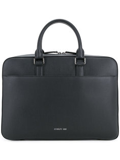metallic logo hardware briefcase Cerruti 1881