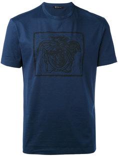 футболка с принтом-логотипом Versace