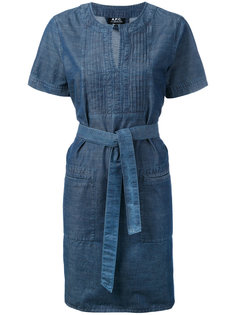 платье-туника с завязками на талии A.P.C.