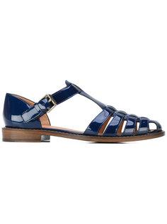 patent woven front sandals Churchs