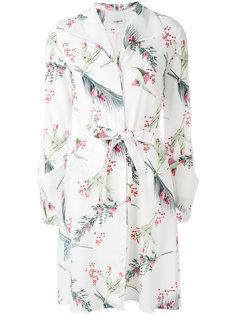 платье-рубашка с растительным принтом Cacharel