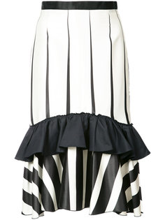 striped frill-trim skirt Tome