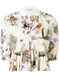 блузка с принтом животных Vivetta