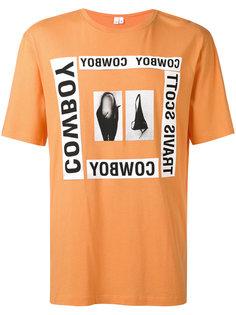 футболка с комбинированным принтом Helmut Lang
