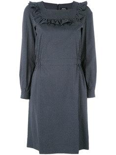 платье с узором в горох и оборками A.P.C.