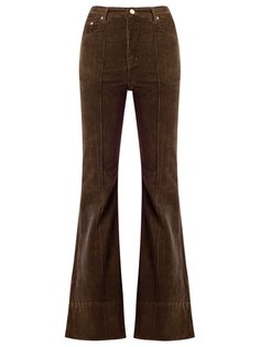 high waist velvet flared trousers Amapô