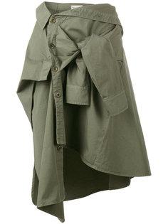юбка в стиле обмотанной рубашки Faith Connexion