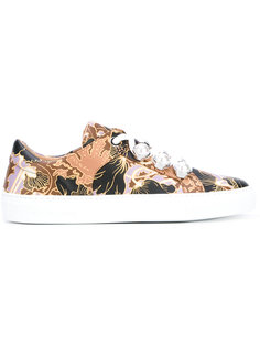 printed decorative lace trainers Carven
