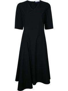 asymmetric v-neck dress Astraet