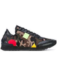 кроссовки с камуфляжным принтом Philippe Model