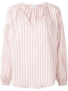 блузка в полоску с V-образным вырезом  Closed