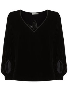 lace velvet top Martha Medeiros