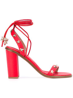 босоножки с заклепками в форме звезд Red Valentino