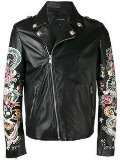 куртка с принтом в стиле татуировок John Richmond