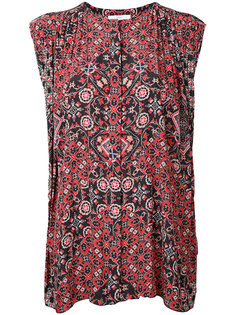 printed sleeveless blouse  Astraet