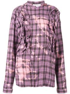 рубашка в клетку с оборками Faith Connexion