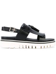 сандалии на платформе с ремешком на пятке Baldinini