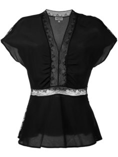блузка с кружевными вставками Paul & Joe