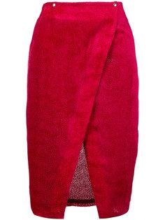 textured wrap skirt Roseanna