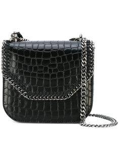 сумка Falabella Box с крокодиловым эффектом Stella McCartney