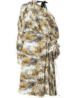 асимметричное платье с принтом Haze Marni