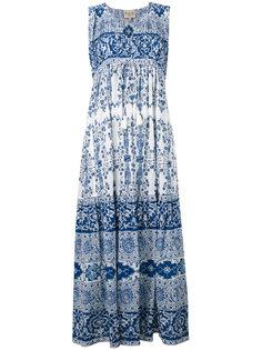 printed maxi dress Sea