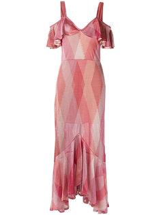 ruffled gown Cecilia Prado