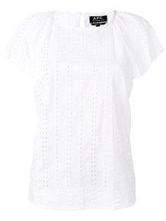 вышитая блузка с рукавами-кап A.P.C.