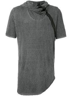 футболка с драпировками у шеи и капюшоном Lost & Found Ria Dunn