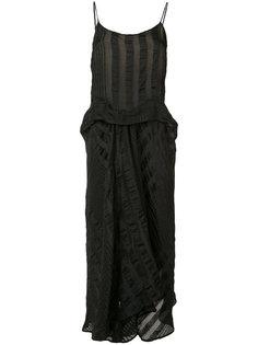 платье-комбинация с драпировкой Uma Wang