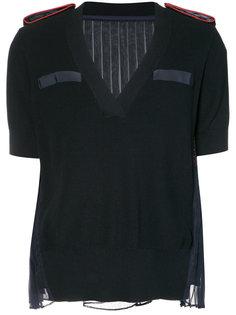 блуза с прозрачной спинкой Sacai