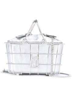 wire basket clutch bag Savas