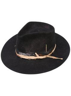 шляпа-федора с бантом сбоку Nick Fouquet