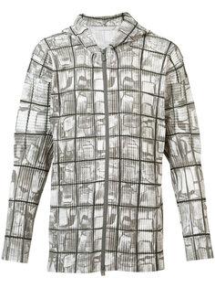 zipped pleated hoodie Homme Plissé Issey Miyake