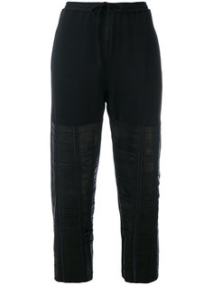 leather strap track pants Ilaria Nistri