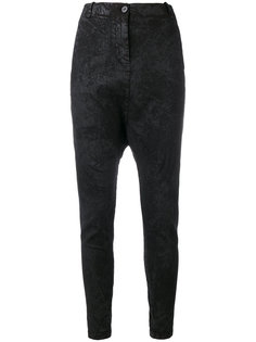 textured drop crotch trousers Masnada