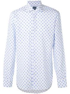 рубашка с цветочной вышивкой Barba
